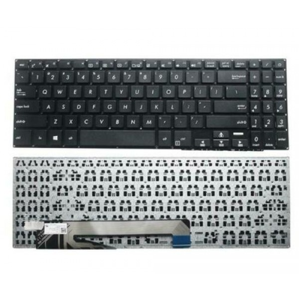 Laptop keyboard for Asus X560 X560UD Series - US Layout - Without Frame - Black - New - 1-Year Warranty
