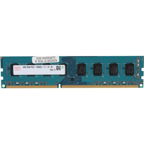 Refurbished 4GB DDR3 SDRAM DIMM 1600MHz PC3-12800U - 240-Pin - Mixed Brands - Non-ECC Unbuffered - 1 Year Warranty