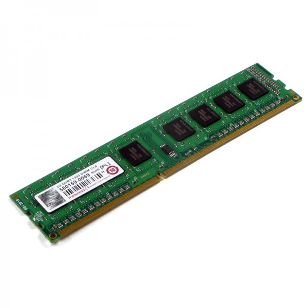 Transcend - RAM Memory - 4GB - DDR3 - 1600MHz - DIMM - 240pin - PC3-12800U - 1.5V - Dual Rank - CL11 - unbuffered Non-ECC - TS512MLK64V6N