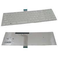 New Replacement Laptop Keyboard for Toshiba Satellite C50, C50-A, C50DT-A, C50T-A C55-A, C55D, L50, L50-A, S50 White With Frame - US Layout