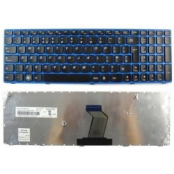 Laptop Keyboard For Lenovo Z570,  B570A, B570G, B575, With Blue Frame, UK Layout