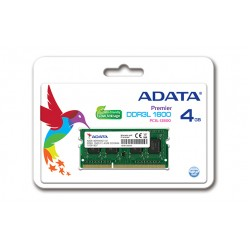 ADATA 4GB DDR3L 1600MHz 4GB DDR3L 1600MHz Memory Module For Notebooks
