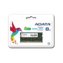 ADATA ADDS1600W8G11-B 8GB DDR3L (Low Voltage) 1600MHz 204 Pin SO-DIMM Memory Module For Notebooks