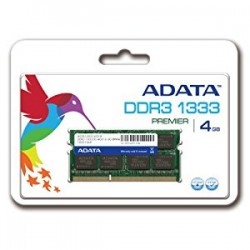 ADATA 4GB DDR3 SO-DIMM 1333MHz Memory Module For Notebooks (AD3S1333C4G9-B)