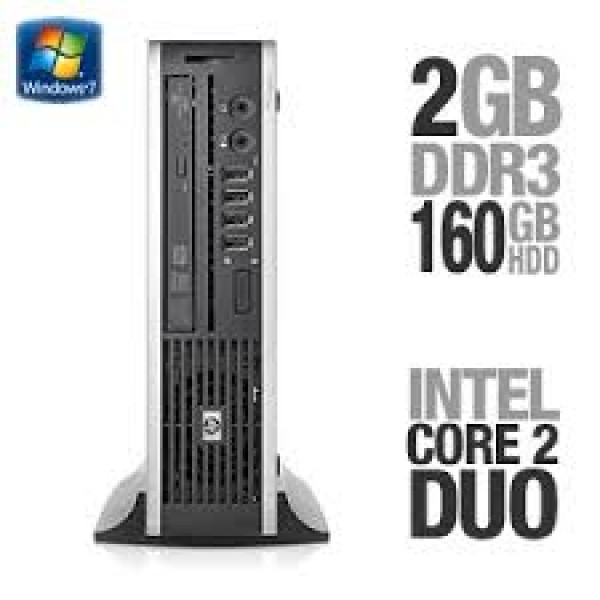 HP Compaq 8000f Elite Ultra-slim Desktop PC | Intel® Core™2 Duo Processor E6600 @2.40 GHz | 2GB DDR3 RAM | 160GB HDD | WINDOWS 7 PRO 64-BIT | DVD-ROM | 1 Year Wty | Grade A