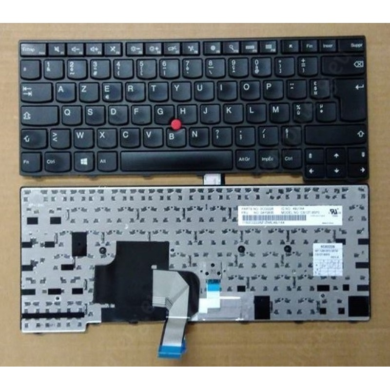 Original Used Lenovo T440 T440S Keyboard French Layout Big Enter Key With  Tracking Point 0C02226