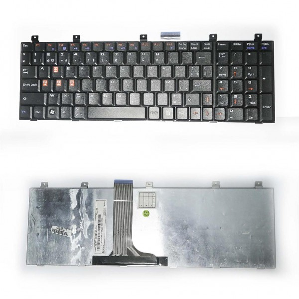 keyboard For MSI CR720MSI CX605, MSI CX720, MSI GX660, MSI GX660R (classic - gaming version)French Layout