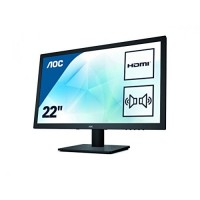 AOC 21 inch LED Full HD Multimedia Monitor | HDMI, DVI, VGA | Speakers | Vesa | E2275SWJ | Refurbishered Grade A | 1 Year Warranty