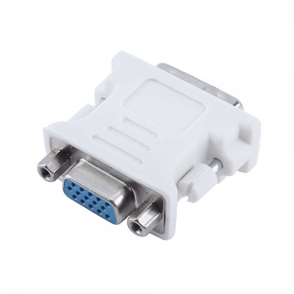 DVI 24+1 Pin Male to VGA 15Pin Female adapter - White