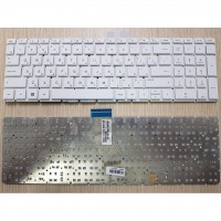 New Replacement Keyboard for HP Pavilion 15-BS 250 G6 255 G6 | US-Russian Layout | White without Frame Small Enter Key | 1 Year Warranty