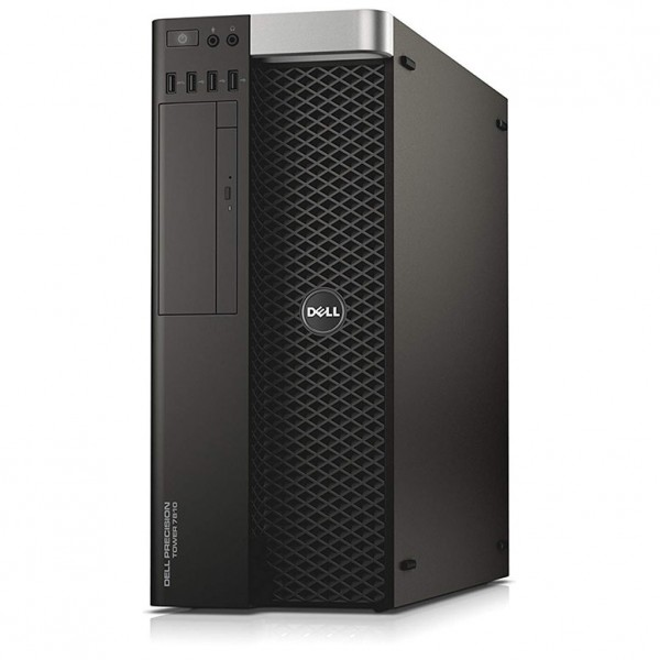 Dell Precision T7810 Workstation Tower | 2x Intel Xeon Hexa Core E5-2609 V3 | 32GB DDR4 RAM | 256GB SSD + 500GB HDD | Nvidia Quadro K2000 2GB | Windows 10 Pro | Refurbished Grade A | 1 Year Warranty
