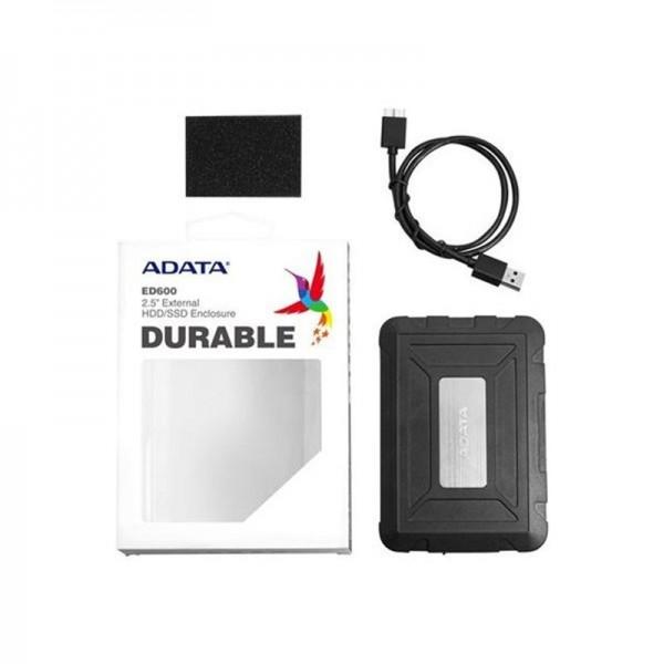 ADATA ED600 - storage enclosure - SATA 6Gb/s - USB - 1 Year Warranty
