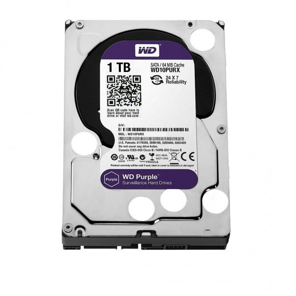 Western Digital Purple 1TB Serial ATA III internal hard drive 3.5""